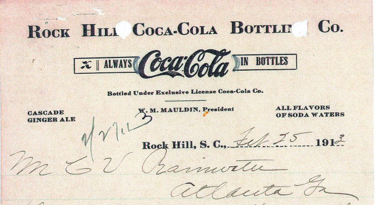 Rock Hill Coke history letter