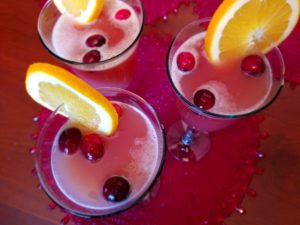 A bright and colorful holiday punch.