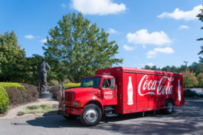Coca-Cola truck at Cherry Park