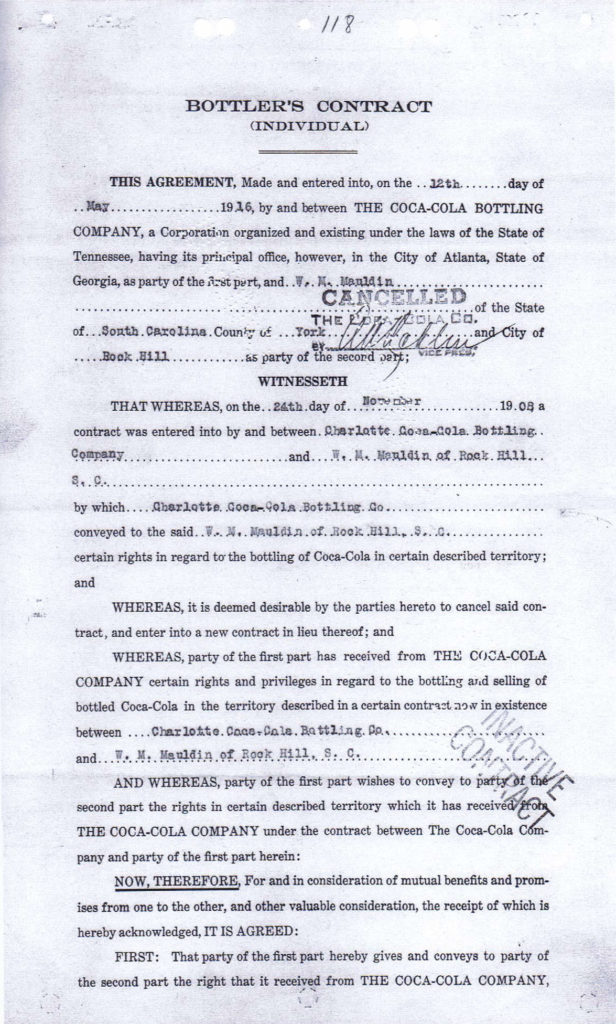 1916 contract 1
