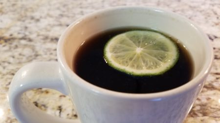 hot coke with lime and ginger