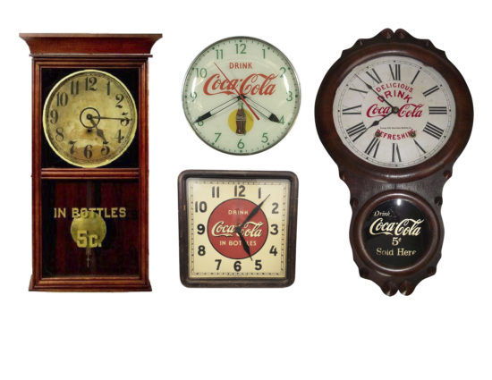 Coca-Cola clocks